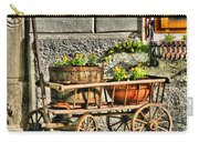 Cart And Flowers In Slovenia Carry-all Pouch