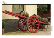 Cart Loaded With Wood Beer Barrels Carry-all Pouch