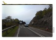 Cartoon - Car And Truck Crossing A Road Repair Section Of Highway In Scotland Carry-all Pouch