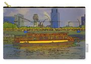 Cartoon - Colorful River Cruise Boat In Singapore Next To A Bridge Carry-all Pouch
