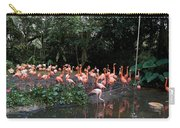 Cartoon - Flamingos In Their Exhibit Along With A Small Lake In The Jurong Bird Park Carry-all Pouch