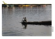 Cartoon - Kashmiri Man Rowing A Small Wooden Boat In The Waters Of The Dal Lake Carry-all Pouch
