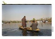 Cartoon - Kashmiri Men Plying A Wooden Boat In The Dal Lake In Srinagar Carry-all Pouch