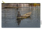 Cartoon - Kashmiri Men Rowing Many Small Wooden Boats In The Waters Of The Dal Lake Carry-all Pouch