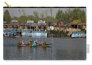 Cartoon - Ladies On 2 Wooden Boats On The Dal Lake With The Background Of Houseboats Carry-all Pouch