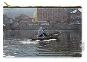 Cartoon - Light Following This Lady On A Wooden Boat On The Dal Lake In Srinagar Carry-all Pouch