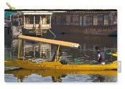Cartoon - Man Plying Wooden Shikara With Side Lettering Of Kodak Express In The Dal Lake Carry-all Pouch