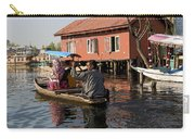 Cartoon - Man Rowing A Family In A Wooden Boat Carry-all Pouch
