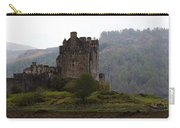 Cartoon - Structure Of The Eilean Donan Castle In Front With Dry Part Of Lake Carry-all Pouch