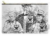 Cartoon Depicting The Impact Of Franklin D Roosevelt  Carry-all Pouch