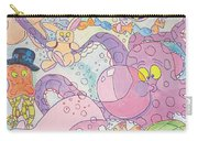 Cartoon Sea Creatures Carry-all Pouch