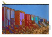 Cartoonised Beach Huts Carry-all Pouch