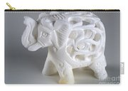 Carved Elephant Carry-all Pouch