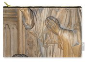 Carved In Wood Carry-all Pouch