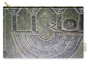 Carving Like Cleopatra's Necklace In A Crypt In Temple Of Hathor Near Dendera-egypt Carry-all Pouch by Ruth Hager