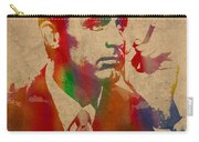 Cary Grant Watercolor Portrait On Worn Parchment Carry-all Pouch