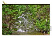 Cascade Over Mossy Rocks Along La Chute Trail In Forillon Np-qc Carry-all Pouch