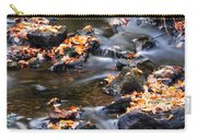 Cascading Autumn Leaves On The Miners River Carry-all Pouch