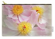 Cascading Pink Peony Flowers Carry-all Pouch