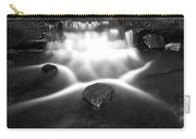 Cascading Waterfall Black And White Carry-all Pouch