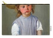Cassatt's Child In A Straw Hat Carry-all Pouch