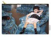 Cassatt's Little Girl In A Blue Armchair Carry-all Pouch
