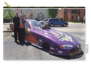 Cassie Simonton With Her Alcohol Funny Car Carry-all Pouch