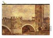 Castel Vecchio And Bridge In Verona Italy Carry-all Pouch