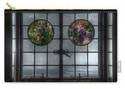 Castle In The Clouds Stained Glass To Winnipesaukee - Greeting Card Carry-all Pouch