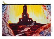 Castle Rock Silhouette Painting In Wax Carry-all Pouch