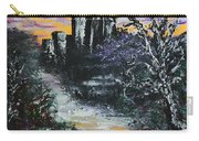 Castle Ruins At Dawn Carry-all Pouch