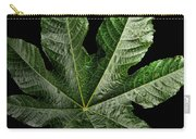 Castor Bean Leaf Carry-all Pouch