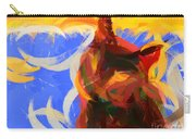 Cat Abstract Art Carry-all Pouch by Pixel Chimp