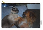 Cat And Dog Fight Carry-all Pouch
