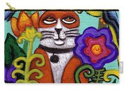 Cat And Four Birds Carry-all Pouch