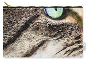 Cat Art - Looking For You Carry-all Pouch by Sharon Cummings