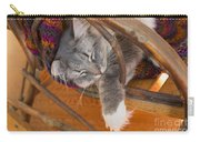 Cat Asleep In A Wooden Rocking Chair Carry-all Pouch