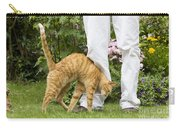 Cat Brushing Against Legs Carry-all Pouch