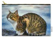 Cat By The Seaside Carry-all Pouch