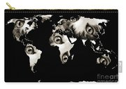 Cat Eyes World Map Carry-all Pouch