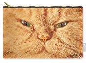 Cat Face Close Up Portrait. Painted Effect Carry-all Pouch