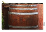 Cat Guarding A Wine Barrel In Alsace Carry-all Pouch