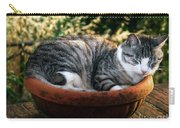 Cat In A Flowerpot Carry-all Pouch