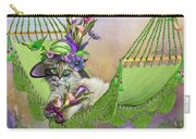 Cat In Calla Lily Hat Carry-all Pouch