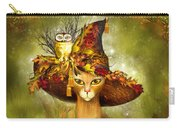 Cat In Fancy Witch Hat 3 Carry-all Pouch