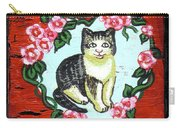 Cat In Heart Wreath 1 Carry-all Pouch