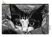 Cat In Hiding Carry-all Pouch