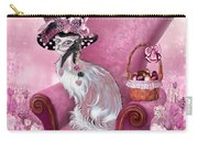 Cat In Mad Hatter Hat Carry-all Pouch by Carol Cavalaris