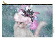 Cat In Snowflake Hat Carry-all Pouch