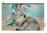 Cat In Summer Beach Hat Carry-all Pouch